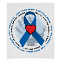Stop Child Abuse Ribbon Poster
