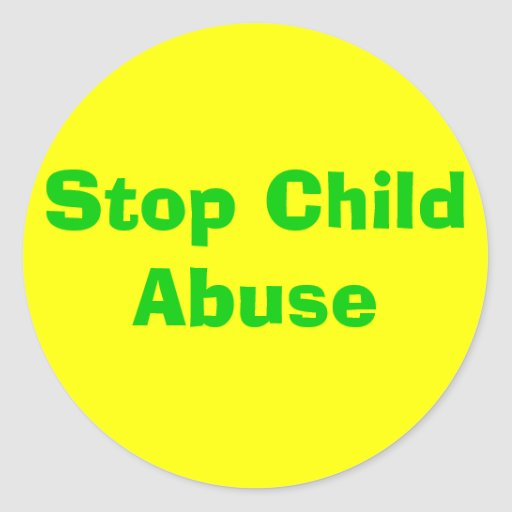 Stop Child Abuse Round Stickers