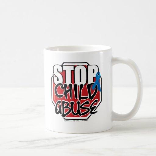 Stop Child Abuse Sign Classic White Coffee Mug