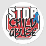 Stop Child Abuse Sign Sticker
