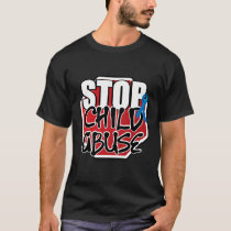 Stop Child Abuse Sign T-Shirt
