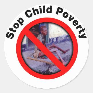 Stop Child Poverty Round Stickers