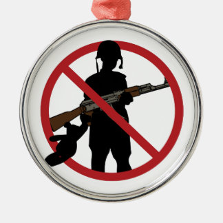 Stop Child Soldiers Metal Ornament