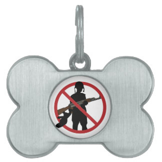 Stop Child Soldiers Pet Name Tag