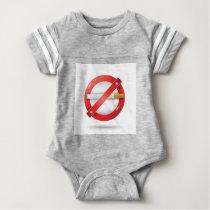 stop cigarette baby bodysuit
