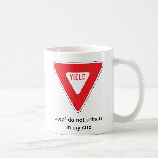 stop! classic white coffee mug