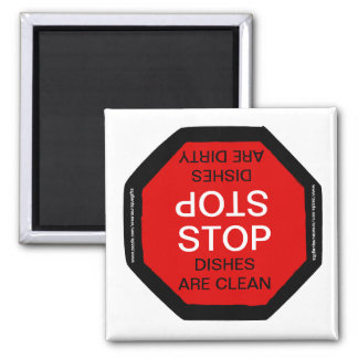 Stop Clean Dirty Dishwasher Magnet
