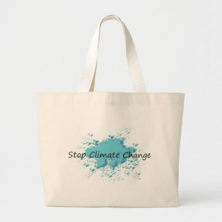 Stop Climate Change! Tote Bags