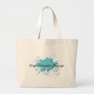 Stop Climate Change! Canvas Bags