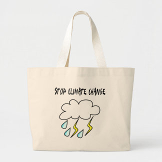Stop climate Change! Ecology products! Canvas Bag