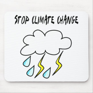 Stop climate Change! Ecology products! Mouse Pads