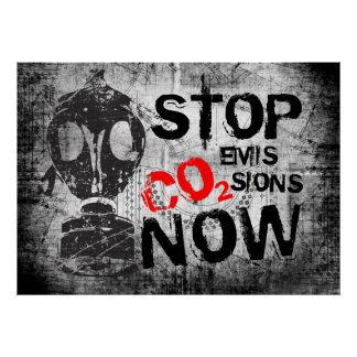 STOP CO2 EMISSION NOW POSTER