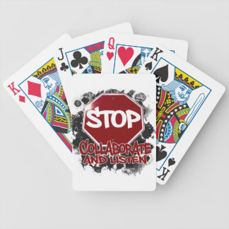 Stop! Collaborate and Listen. Bicycle Playing Cards