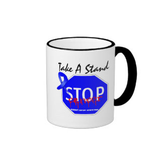 Stop Colon Cancer Take A Stand Ringer Coffee Mug