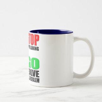 Stop Complaining Two-Tone Coffee Mug