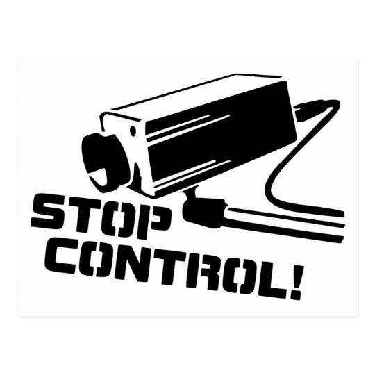Stop Control (Postcard) Postcard