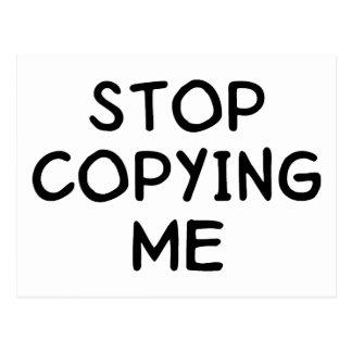 Stop Copying Me Postcard