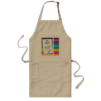 Stop Counting Crayons Long Apron (Adults)