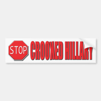Stop Crooked Hillary Bumper Sticker