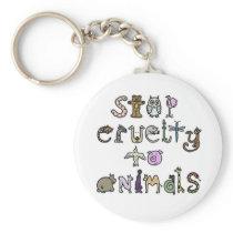 Stop Cruelty Key Chain