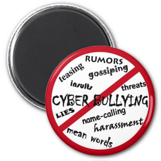 Stop Cyber Bullying 2 Inch Round Magnet