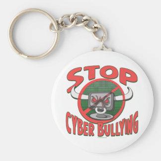 Stop Cyber-Bullying Anti Cyberbully Gear Basic Round Button Keychain