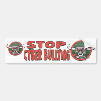 Stop Cyber-Bullying Anti Cyberbully Gear Bumper Sticker