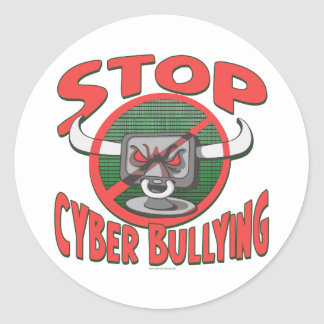 Stop Cyber-Bullying Anti Cyberbully Gear Classic Round Sticker