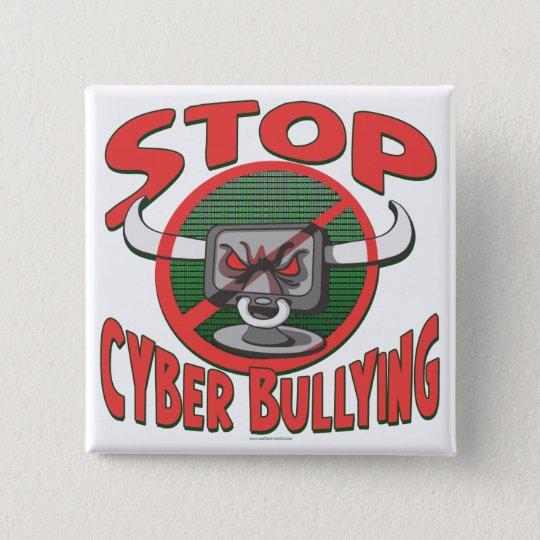 Stop Cyber-Bullying Anti Cyberbully Gear Pinback Button