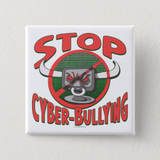 Stop Cyber-Bullying Anti Cyberbully Gear Pinback Button