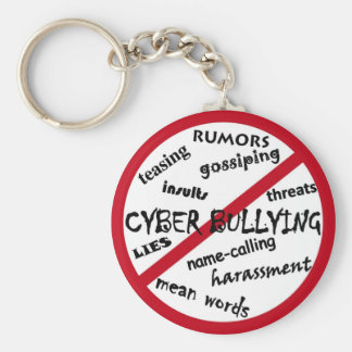 Stop Cyber Bullying Basic Round Button Keychain