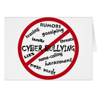 Stop Cyber Bullying Card