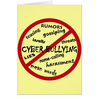 Stop Cyber Bullying Greeting Card