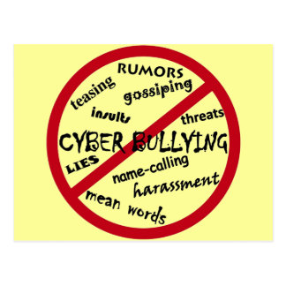 Stop Cyber Bullying Postcard