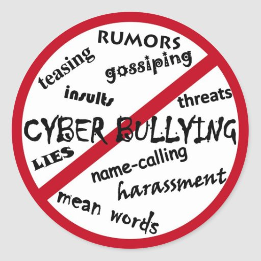 Stop Cyber Bullying Round Stickers