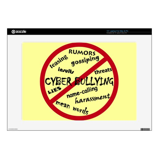 Stop Cyber Bullying Skin For Laptop