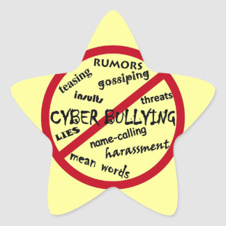 Stop Cyber Bullying Star Sticker