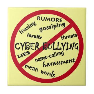 Stop Cyber Bullying Tile