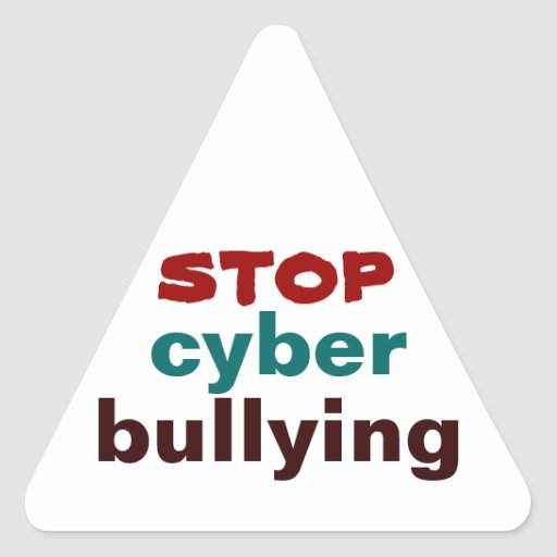 STOP Cyber Bullying Triangle Sticker