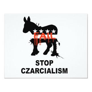 "Stop Czarcialism 4.25"" X 5.5"" Invitation Card"