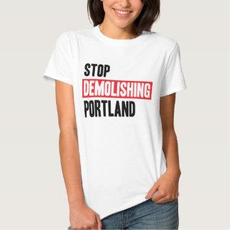 Stop Demolishing Portland - light colors, women's. T Shirt