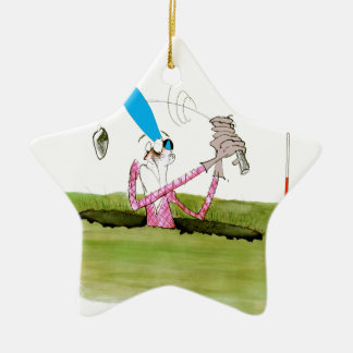 stop digging - golf, tony fernandes ceramic ornament