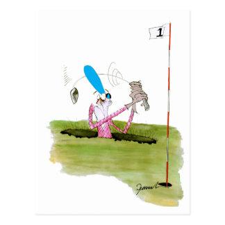 stop digging - golf, tony fernandes postcard