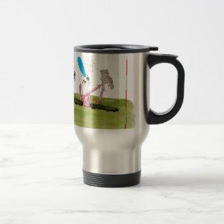 stop digging - golf, tony fernandes travel mug