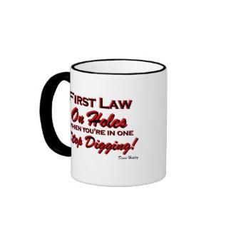 Stop Digging! Coffee Mug