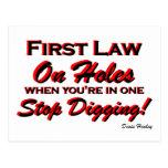 Stop Digging! Postcard