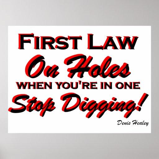 Stop Digging! Poster