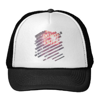 Stop Do Not Enter in Window Shade Style Trucker Hat