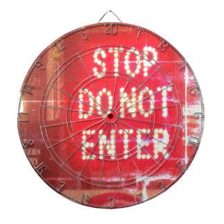 Stop Do Not Enter Sign Street Art Dart Board