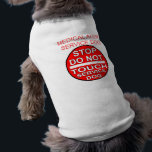 """STOP DO NOT TOUCH - MEDICAL ALERT SERVICE DOG T-Shirt<br><div class=""""desc"""">Service Dog handlers are all to familiar with the problem of people wanting to touch their dog. However,  while a dog is working,  this is undesirable. let this shirt be your assistant while you are out in public.</div>"""